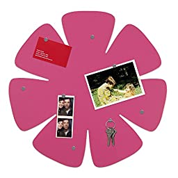 Three By Three Seattle Shape-Up! Flower Magnet Board, Pink (32610)