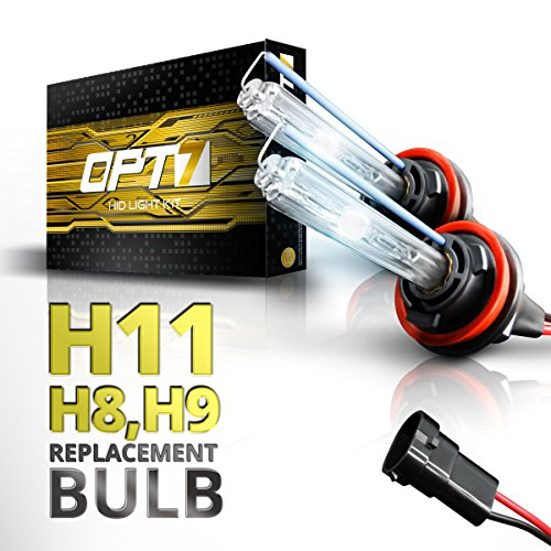 OPT7 Bolt AC H11 Replacement HID Bulbs Pair [8000K Ice Blue] Xenon Light (8000 Hid Replacement compare prices)