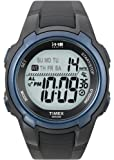 Timex Men&#8217;s T5K086 1440 Sports  Digital Black/Blue Resin Strap Watch
