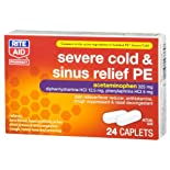 Rite Aid Severe Cold and Sinus Relief PE, 24 Caplets