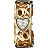 XOXO Women's XO1091 Mother-of-Pearl Dial Gold-tone Bangle Watch