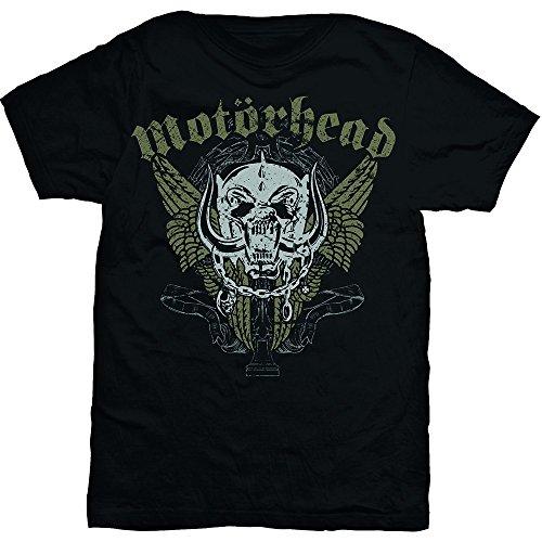 Motorhead da uomo ali maniche corte maglietta nero Large