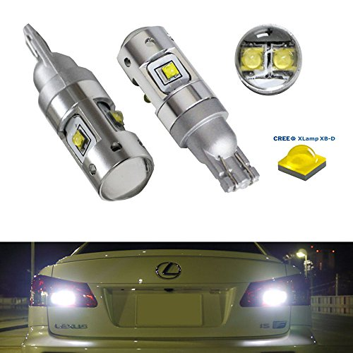 Ijdmtoy (2) Super Bright Xenon White 25W Cree 912 920 921 906 T10/T15 Led Bulbs For Car Backup Reverse Lights