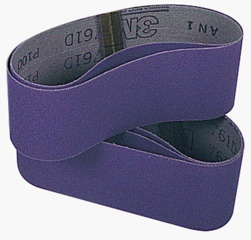 3M 81403 3-Inch by 21-Inch Purple Regalite Resin Bond 120 Grit Cloth Sanding Belt - 5 Pack