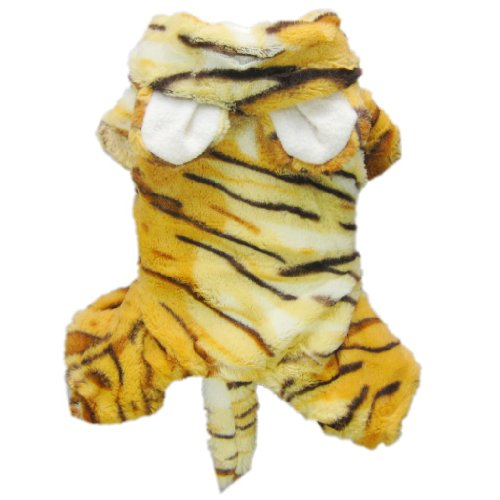 Cute Tiger Costumes for Dog Clothes Pet Dog Jumpsuit Coat Pet Cat Apparel-M