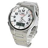 CITIZEN シチズン Q&Q 腕時計 アナデジ 5局電波ソーラー MD02-204 ホワイト