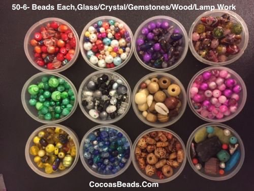 Cocoa's Beads Jewelry Making Bead Kit, Glass Beads, Swarovski Crystal, Bead Book,findings,supplies, Gemstones, Wedding Cakes, Lamp Work, Tiger Wire,findings, in USA (Gems Jewelry Making Kit compare prices)