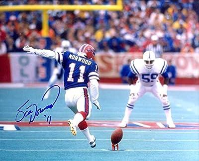 Scott Norwood (Buffalo Bills Kicker) Autographed/ Original Signed 8x10 Color Photo During Super Bowl XXV