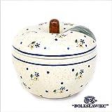 [Zaklady Ceramiczne Boleslawiec/ザクワディ ボレスワヴィエツ陶器]リンゴのポット12.5cm-111 ポーリッシュポタリー