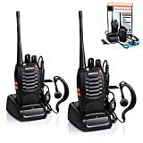 BaoFeng Walkie Talkie, BF-888S Two Way Radios Built in LED Torch for Camping Hiking Hunting Travelling Communication Walkie Talkies (2pcs Pack) (Color: black, Tamaño: 2 Pack)