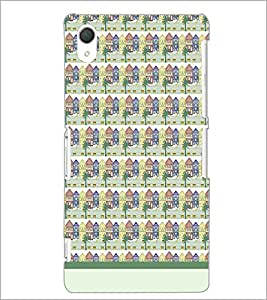 PrintDhaba House Pattern D-1480 Back Case Cover for SONY XPERIA Z3 (Multi-Coloured)