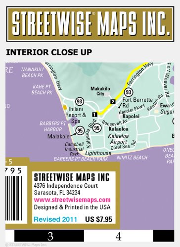 Streetwise Hawaii State Road Map Hawaii Laminated Map