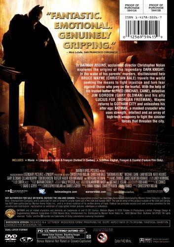 Batman Begins Single-disc Widescreen Edition at Gotham City Store