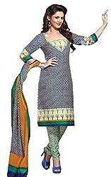 HIFI Ethnicwear Women's Dress Material(HIFI 3301_Blue_Free Size)