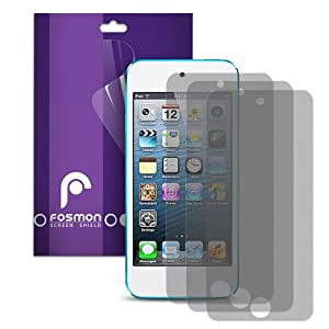 Fosmon Anti-Glare (Matte) Screen Protector Shield for iPod Touch 5th Generation 5G 5 - 3 Pack
