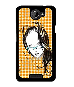 Fuson 2D Printed Girly Designer back case cover for HTC One X - D4575