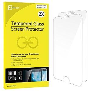 iPhone 6s Protector de Pantalla, JETech 2-Pack [3D Touch Compatibles] iPhone 6s Vidrio Templado Protector de Pantalla Empaquetado al por Menor para iPhone 6s y iPhone 6 4.7 - 0803