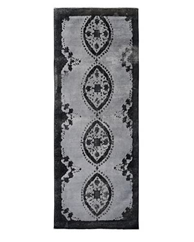 "Kalaty One-of-a-Kind Pak Vintage Rug, Grey/Black, 4' x 11' 3"""