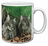 Blue Norwegian Forest Cats Coffee Mug Birthday Gift Idea