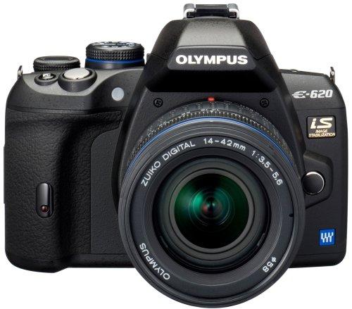 E-620 SLR-Digitalkamera (12,3 Megapixel, Bildstabilisator, Live View, Art Filter) Kit inkl. 14-42mm & 40-150mm Objektive