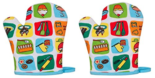Handstand Kids / Child'S 'Bake Me A Cake' Oven Mitt Pair front-239681
