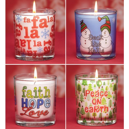 8 Scentaments Holiday Cheer Votive Christmas Candles - Old St. Nick Scented