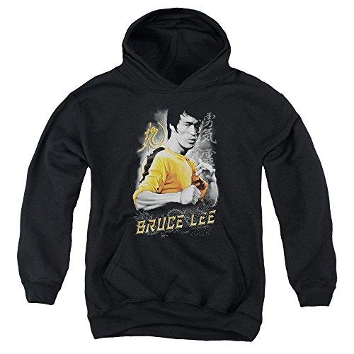 Bruce Lee-Dragon-Felpa con cappuccio per ragazzi, colore: giallo Nero  nero