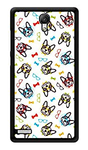 "Humor Gang Retro Dogs Love Printed Designer Mobile Back Cover For ""Xiaomi Redmi Note - Xiaomi Redmi Note 4G"" (3D, Glossy, Premium Quality Snap On Case)"