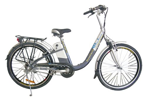 Windsor LPX - Electric Bike - Lighter - More Power - Greater Range - Same Hi-spec as the standard original Windsor but powered by new Lithium Polymer Technology giving 50% increase in range, up to 37 miles - Price Includes First Battery, Battery Charger, Rear Rack - Kick Stand