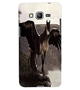 ColourCraft Horse with Feathers Design Back Case Cover for SAMSUNG GALAXY GRAND PRIME DUOS TV G530BT