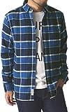 (リミテッドセレクト) LIMITED SELECT ゆうパケット発送 ネルシャツ メンズ チェックシャツ 長袖 マドラス オンブレ 大きいサイズ / R1K-0696 / M / B柄 60