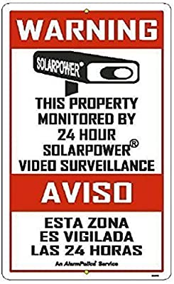 "ALARM SIGNS - 3 Pack 3"" x 5"" Commercial & Home Security Signs, Surveillance Video CCTV Warning! Deterrence Decals"