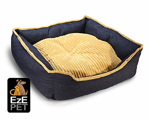 Premium-Kennel-Crate-House-Cuddler-HypoAllergenic-Pet-Bed-Small-Medium-Large-Designer-Colors-Washable-Cushion-Comfy-for-Cat-Dog