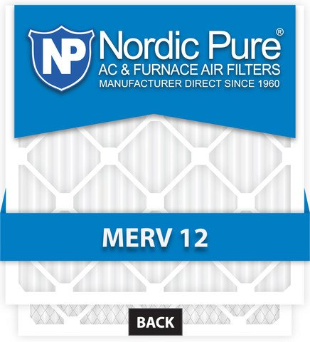Nordic Pure 19/_7//8x21/_1//2x1 Exact MERV 11 Pleated AC Furnace Air Filters 4 Pack