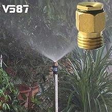 Generic 01 : 10Pcs 360 Degrss Connector Thread Water Sprinkler Irrigation Spray Nozzle Watering Head Garden Brass...