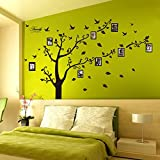 Dagou Huge 6 Ft(h) X 9 Ft(w), Memory Family Tree Photo 1set DIY Flower & Love World Large Art Decor Home Stickers Removable Vinyl Wall Decals for Living Room