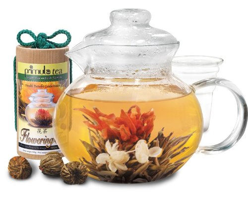 Primula 40-Ounce Blossom Glass Teapot