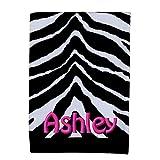 Personalized Creative Bath Zebra Black & White Bath Towel