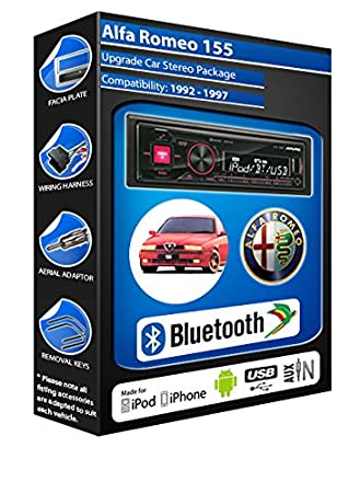Alfa Romeo 155 autoradio Alpine UTE 72BT-kit mains libres Bluetooth pour autoradio stéréo