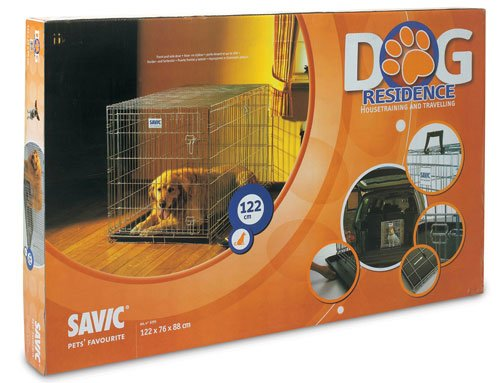 Savic Dog Residence Dog Crate Travel Cage Zinc 118cm