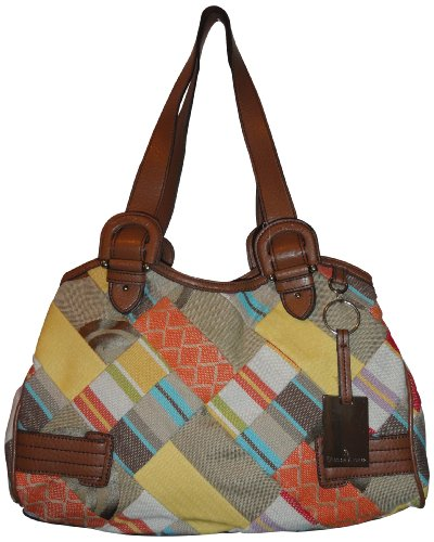Etienne Aigner Purse Handbag Keiila Patchwork Collection Multi Patchwork