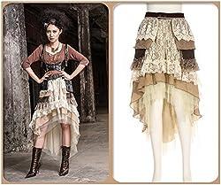 Steampunk Dress Victorian Gothic Sexy Prom Dresses Wedding Dresses Steampunk Skirt Pirate Costume