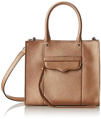 Rebecca Minkoff MAB Tote Mini Cross-Body Handbag,Rose Gold,One Size