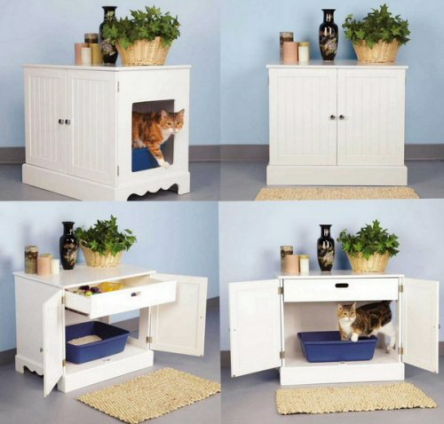 Pet Studio Litter Box Cabinet for Pets