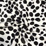 Dalmatiner Tierfellimitat Stoff Meterware