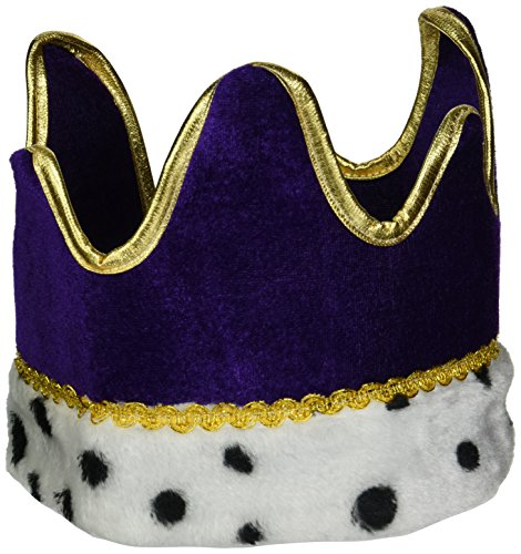 Plush Royal Crown (purple) Party Accessory  (1 count) (1/Pkg)