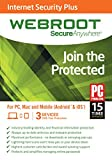 SecureAnywhere Internet Security Plus 2015 3 Device 1 Year PC