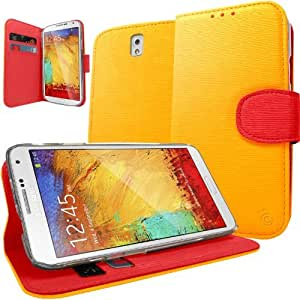 Caseology Premium Quality PU Leather Wallet Case with Stand and ID Pocket Design for Samsung Galaxy Note 3 III (Yellow)
