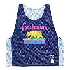 California Lacrosse Neon Print Pinnie