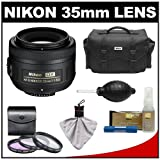 Nikon 35mm f/1.8 G DX AF-S Nikkor Lens & Case + 3 UV/FLD/CPL Filters + Accessory Kit for D3s, D3x, D700, D7000, D5000, D3100, D3000, D300s, D90 Digital SLR Camera